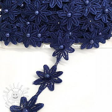 Csipke Bloom dark blue