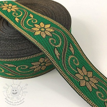 Jacquard Flower green