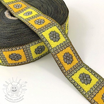 Jacquard Square yellow
