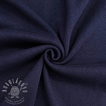 Jersey pointoille navy