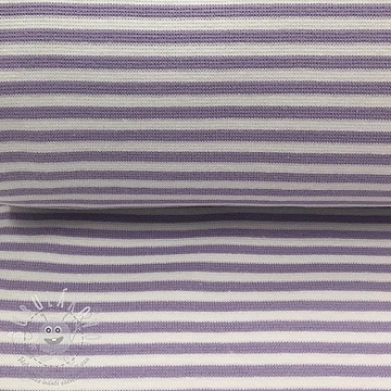 Körkötött sima passzé Stripe light purple white