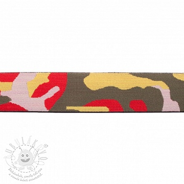 Sima gumi 4 cm Army red