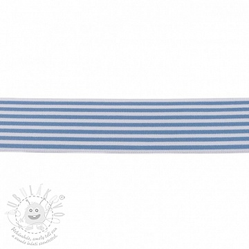 Sima gumi 4 cm Stripe light blue