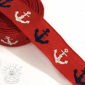 Szalag Anchor multi red