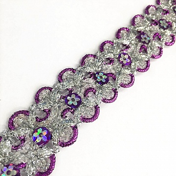 Szalag Sequin purple