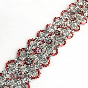 Szalag Sequin red