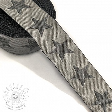 Szalag Stars light grey/dark grey