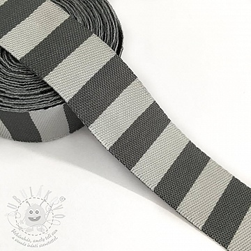 Szalag Stripe grey