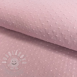 Cotton voile Dotty light pink