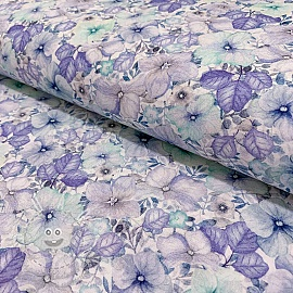 Cotton voile Naima azul