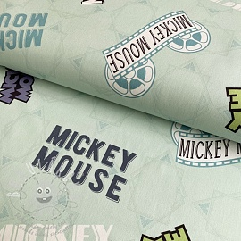 Dekorációs anyag Mickey Mouse Movie banner green digital print