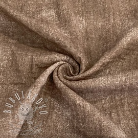 Dupla géz/muszlin Crinkled Jeans taupe