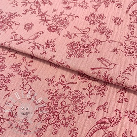 Dupla géz/muszlin Romantic rose
