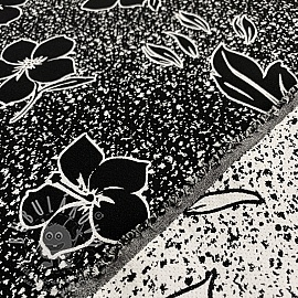 Jacquard Flowers black