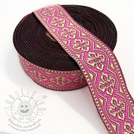 Jacquard Gold flower pink