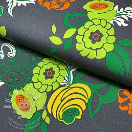 Jersey Abstract Flower lime