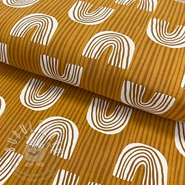 Jersey Bow with stripes ochre