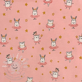 Jersey Dancing rabbit pink