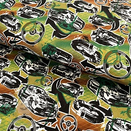 Jersey Fast and Furious driving wheel chocolate digital print