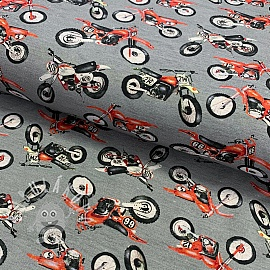 Jersey Mud motorcycle grey digital print