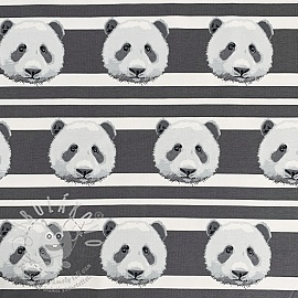 Jersey Panda stripes grey