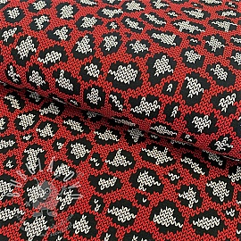 Jersey Panther pattern red