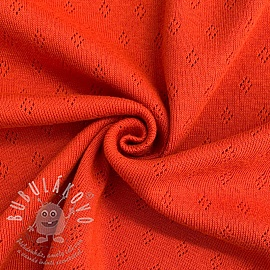 Jersey pointoille orange