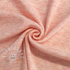 Jersey pointoille rose melange
