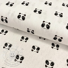 Jersey pointoille Sweet panda white
