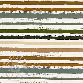 Jersey Snoozy Stripes army digital print