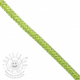 Lurex zsinór 10 mm lime