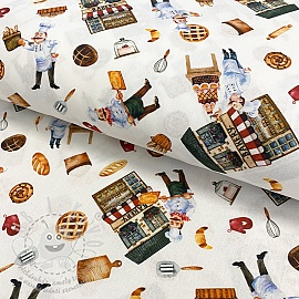 Pamutvászon Bakery digital print
