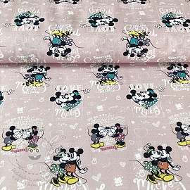 Pamutvászon Mickey and Minnie Forever digital print