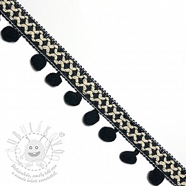 Pom-pom szalag CROSS black