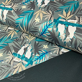 Softshell SPORT Tropical paradise grey digital print