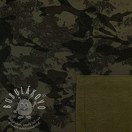 Softshell téli Camouflage dark green