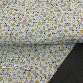 Softshell téli Lovely flowers grey