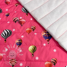 Steppelt anyag Air balloon fuchsia
