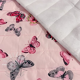 Steppelt anyag Butterfly light pink