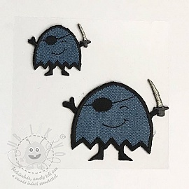Sticker BASIC Monster Pirat blue
