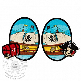 Sticker BASIC Pirat Boat 2 db PATCH