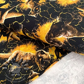 Szabadidő anyag Jurassic world Attack yellow digital print
