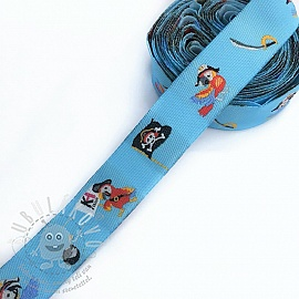 Szalag Pirate light blue