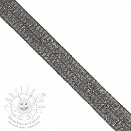 Szegőgumi glitter 20 mm anthracite