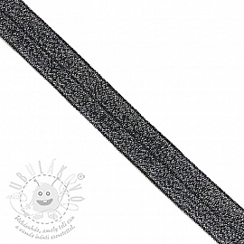 Szegőgumi glitter 20 mm black