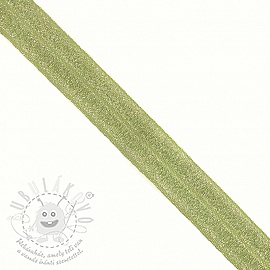 Szegőgumi glitter 20 mm lime