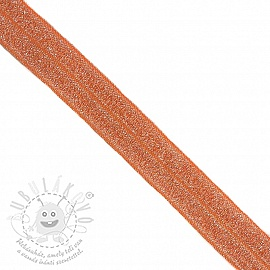 Szegőgumi glitter 20 mm orange
