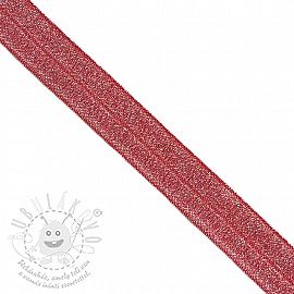 Szegőgumi glitter 20 mm red