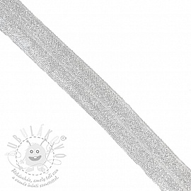Szegőgumi glitter 20 mm white
