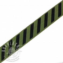 Szegőgumi STRIPE 20 mm army